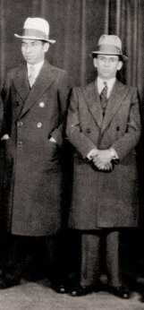 Meyer Lansky and Charles Lucky Luciano together